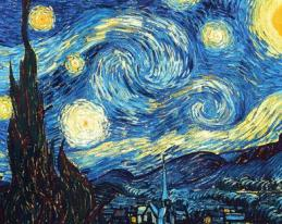 The Starry NIght by artist Vincent Van Gogh