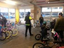 Helping with Bike-O-Rama at Bike Works.
