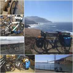 Josie. From the hand-built wheels I made myself and the box of parts, through drop bars and many little tweaks with more to come. to fully loaded crossing the Golden Gate Bridge, pumping through Big Sur, and on to wherever the road ends!