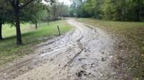 Mud pit.