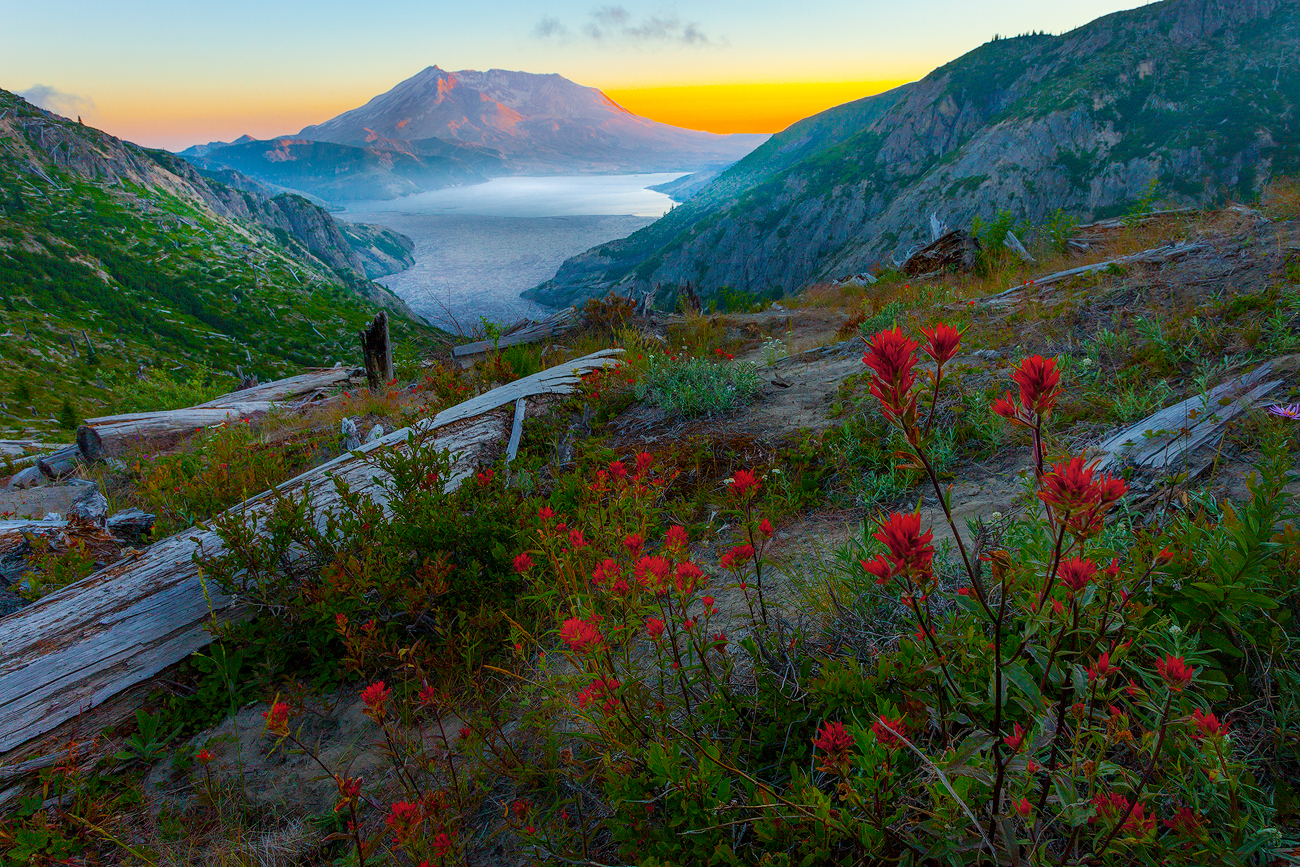 Images from Mt St Helens in Washington State