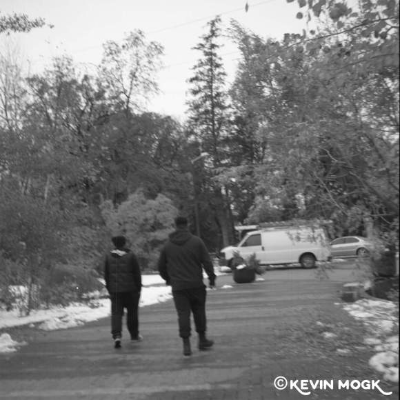 People walking on a path At Assiniboine Park Winnipeg Manitoba