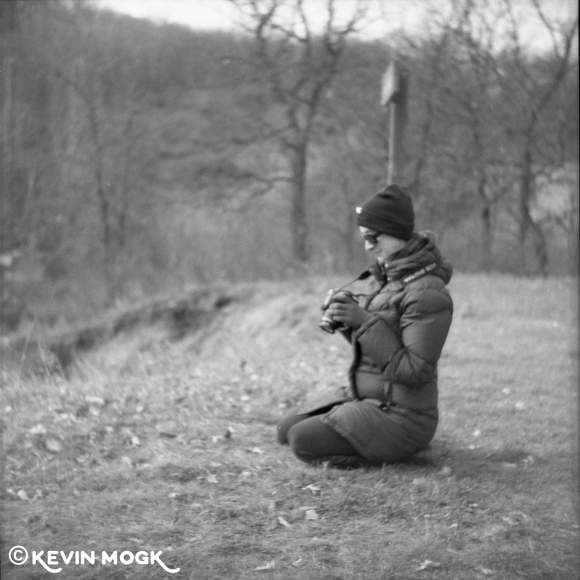 Woman taking pictures in a Provincial Park in Southern Manitoba