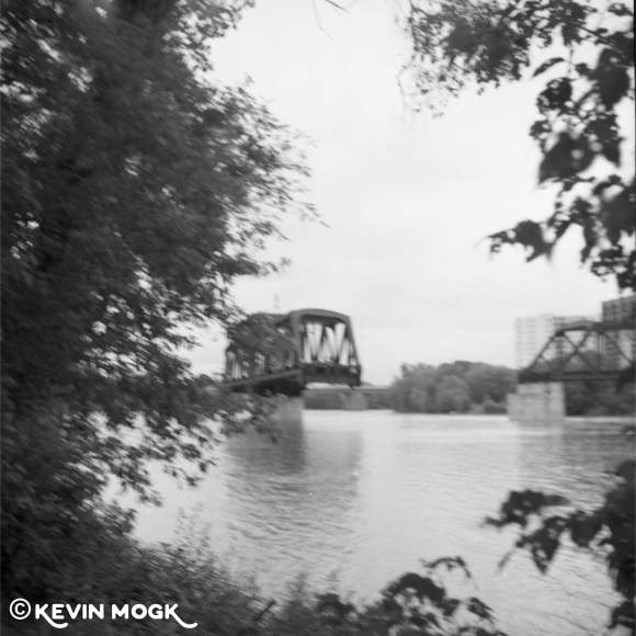 Abandoned Rail Bridge near Kildonan Park Winnipeg