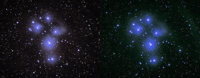 Image Stacking Pleiades Comparison