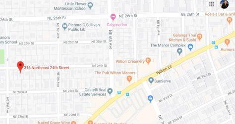 316 NE 24th Street Wilton Manors Location to Wilton Drive - Google Maps