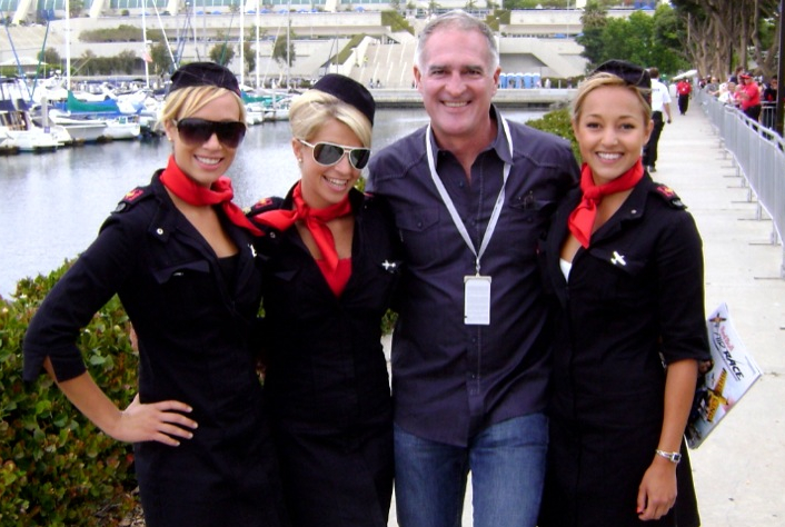 Kevin and Red Bull Girls