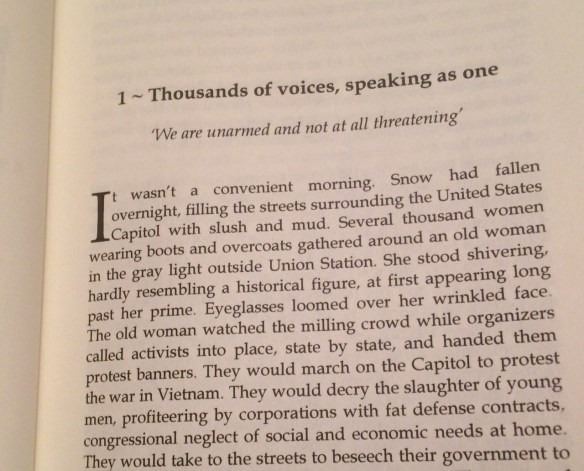 First page of One Woman Against War: The Jeannette Rankin Story