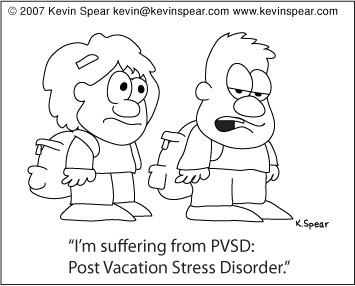 post vacation stress kevin h spear