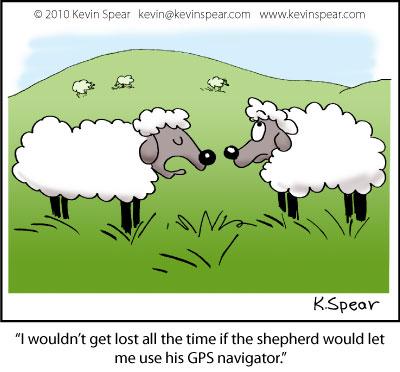 Cartoon of two sheep