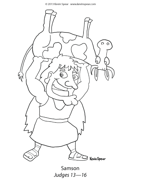 Thumbnail of Samson coloring page