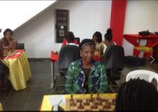 The beautiful Valquiria Rocha at the Angolan Female Chess Championship! Click this to see many more photos: https://www.facebook.com/photo.php?fbid=10207482061022945&set=pcb.1144659615593300&type=3&theater