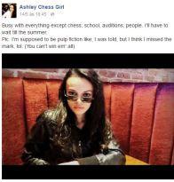 The lovely AshleyGirl (Canada) https://www.facebook.com/Ashleychessgirl