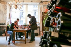 Wine, women and Chess: http://hipparis.com/2012/08/22/a-new-trend-brewing-in-paris-artisanal-beer-at-peoples-drugstore/