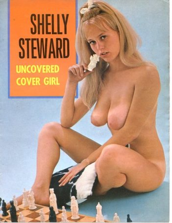 Shelly Steward appearing as the Uncovered Cover Girl, Modern Man Magazine, 1970