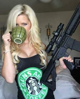 Priorities...always finish your coffee before you go to war.