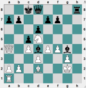 Black to play and mate in a few moves.