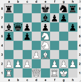 9th Asrian Mem Yerevan 2016.6.20 Kalashian, David--Nanyan, Georgy. Position after 12 moves. White clearly has a more coordinated piece deployment. WHITE TO PLAYA ND CRUSH!