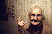 Grandma tells you to Fuck Off! Better do what she says....or she will throw her teeth at you!