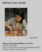 Canadian Zhou Qiyu is playiing in a strong event. Tournaments like this don't exist for talented and up and coming players like Zhou. You can visit her Blog here: https://qiyuzhou.wordpress.com/