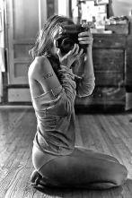 A photographer in her underwear.
