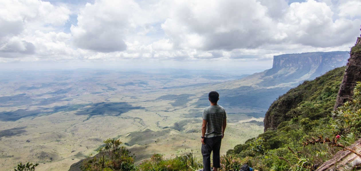 The view on the way up to Mount Roraima