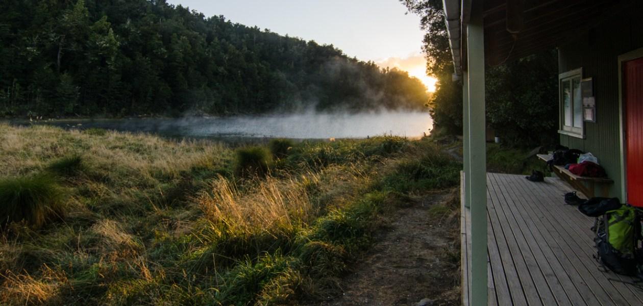 Sunrise, Marauiti Hut, Lake Waikaremoana Great Walk