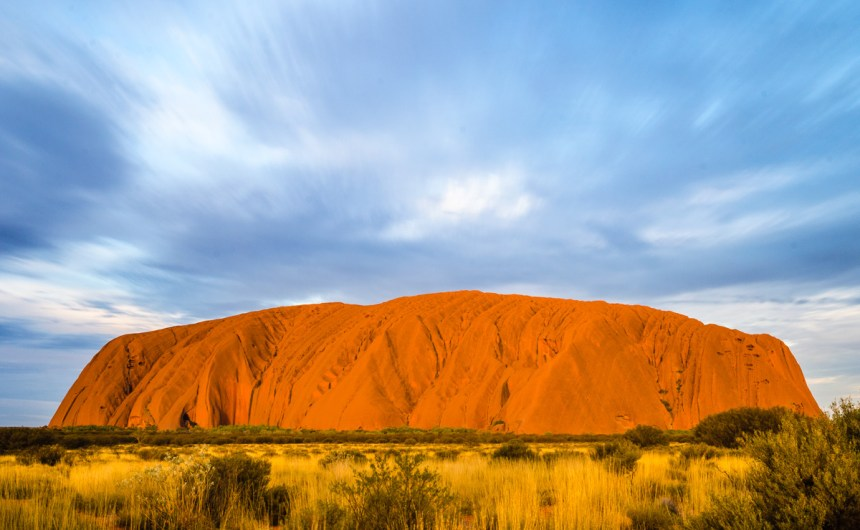 Uluru during sunset