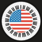 Circle Piano Flag