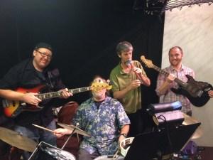"""Little Shop"" band Chris Booke, Jeff Segal, me, Andre Rossignol."