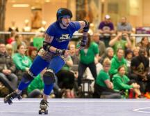 Photo courtesy fo Michael Squier. Michette, a jammer to fear.