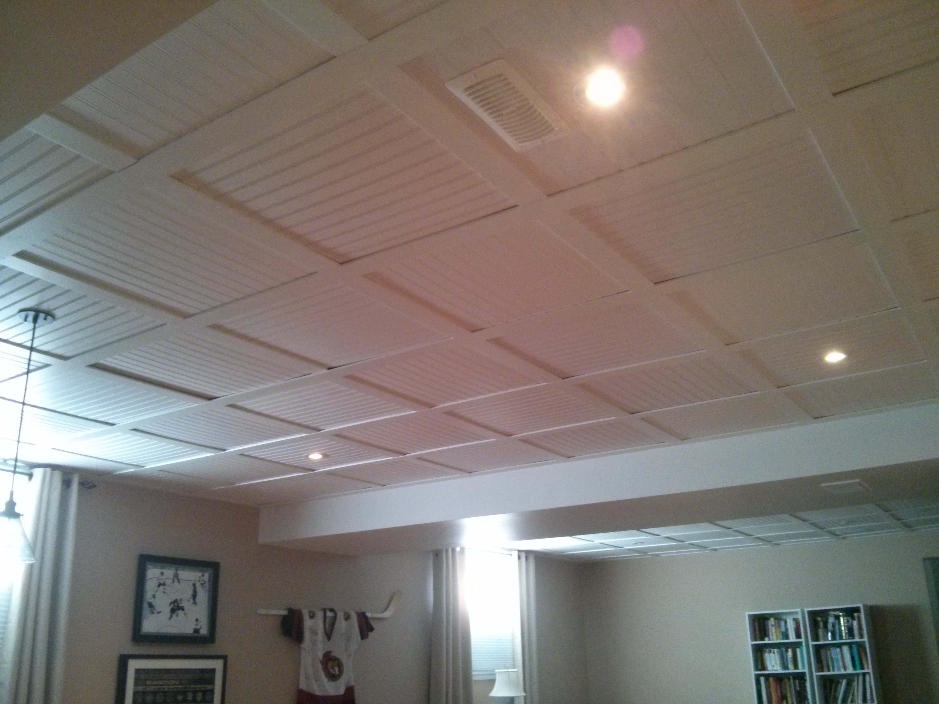 Embassy Suspended Ceiling With Beadboard Ceiling Tiles 20