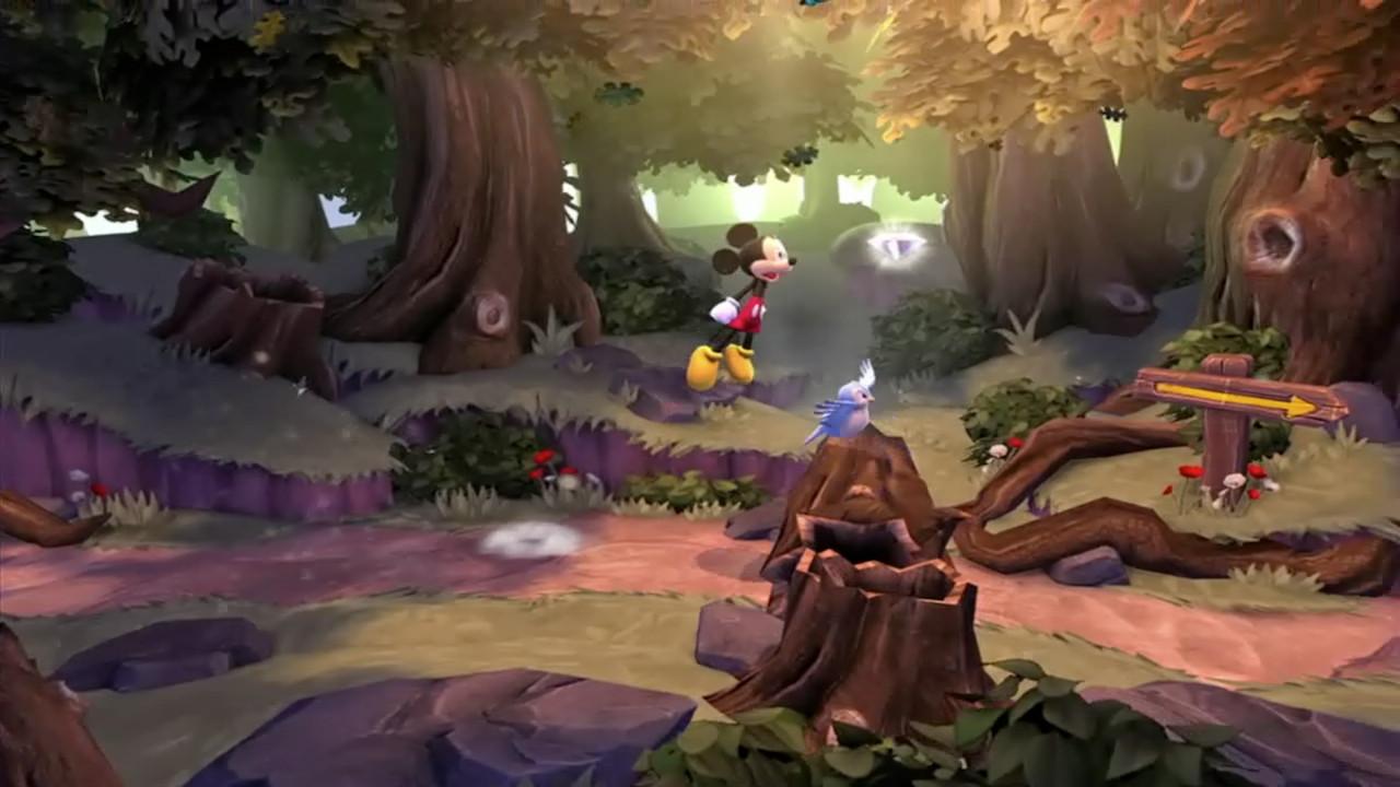 Mickey gambade joyeusement et saute... encore !