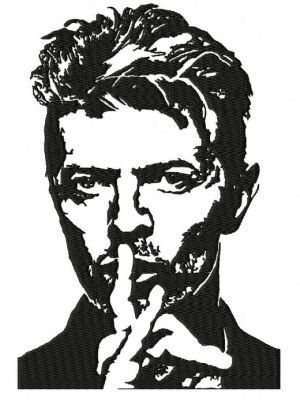 David Bowie Embroidery Design