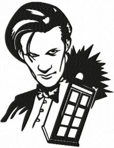 Dr Who and Tardis Embroidery Design