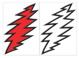 Grateful Dead Lightning Bolt Multi Size Embroidery Designs
