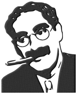 Groucho Marx Embroidery Design