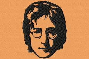 John Lennon Face Embroidery Design