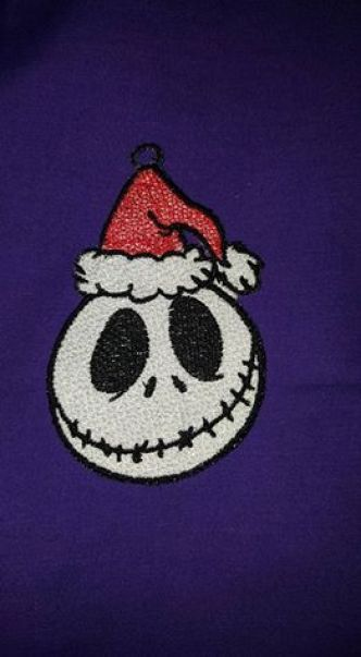 Nightmare FSL Ornament Jack stitched out