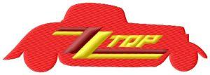 ZZ Top Car Logo Embroidery Design