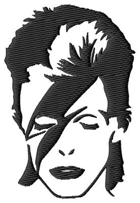 David Bowie Ziggy Embroidery Design