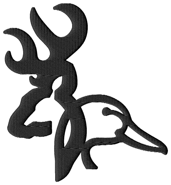Browning Duck Logo Embroidery design