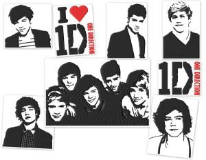 One Direction Embroidery Designs Set