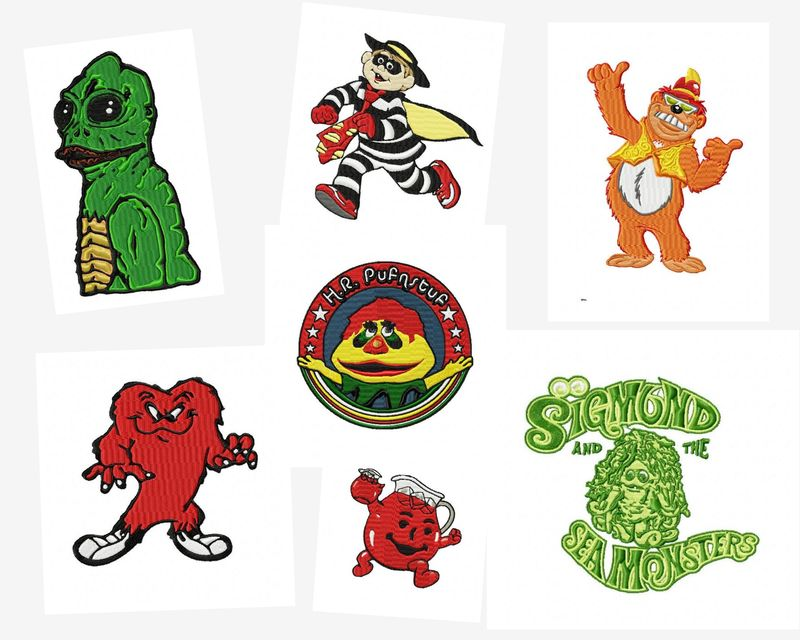 70's TV Shows Throwback Embroidery Designs Pack