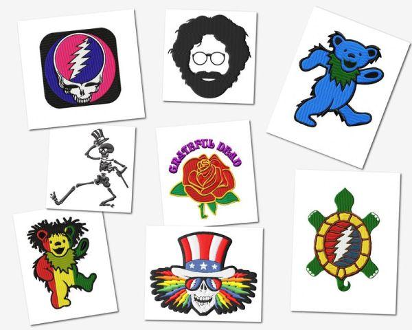 Grateful Dead Embroidery Designs Set (2sizes!)
