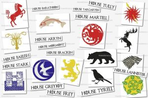 Game of thrones embroidery designs set