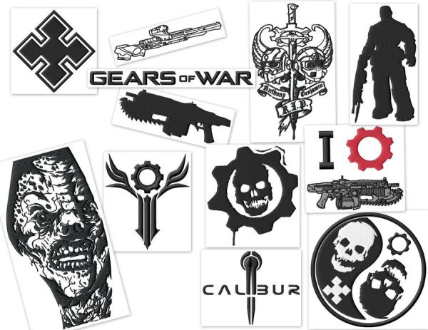 Gears Of War Gamer Embroidery Designs