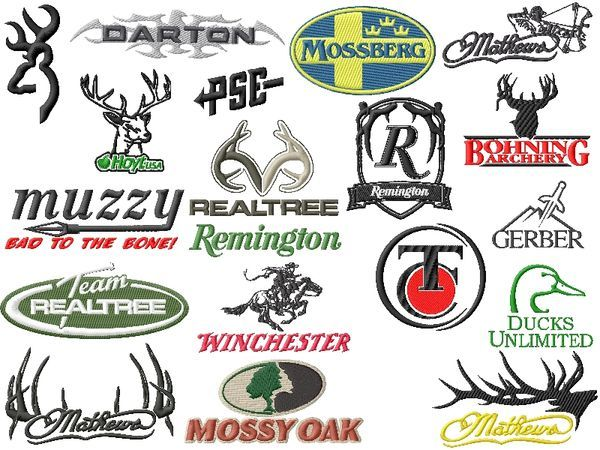 Hunting Logos Embroidery Designs Set