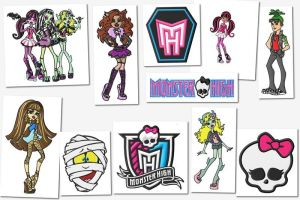 Monster High Embroidery Designs Set