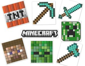 Minecraft embroidery designs